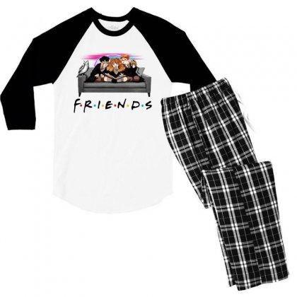 Friends   Harry Potter Family Witch Fan Art Men's 3/4 Sleeve Pajama Set Designed By Meganphoebe