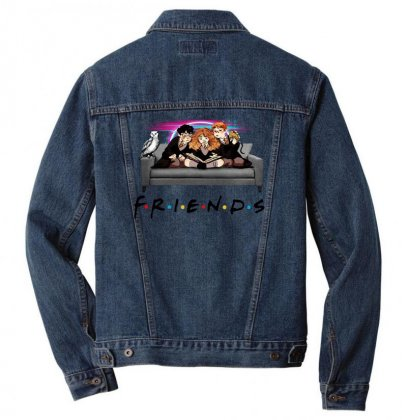 Friends   Harry Potter Family Witch Fan Art Men Denim Jacket Designed By Meganphoebe