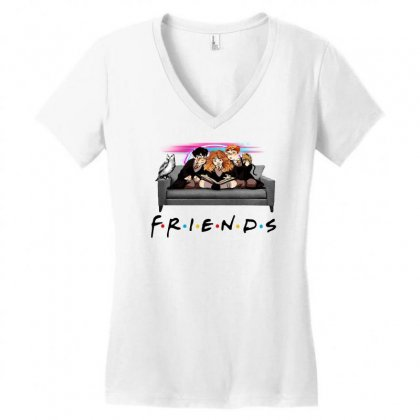 Friends   Harry Potter Family Witch Fan Art Women's V-neck T-shirt Designed By Meganphoebe