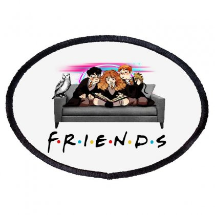 Friends   Harry Potter Family Witch Fan Art Oval Patch Designed By Meganphoebe