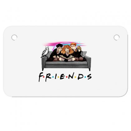 Friends   Harry Potter Family Witch Fan Art Motorcycle License Plate Designed By Meganphoebe