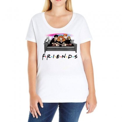 Friends   Harry Potter Family Witch Fan Art Ladies Curvy T-shirt Designed By Meganphoebe