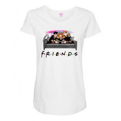 Friends   Harry Potter Family Witch Fan Art Maternity Scoop Neck T-shirt Designed By Meganphoebe