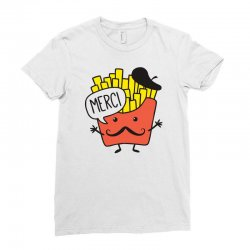 french fries funny Ladies Fitted T-Shirt | Artistshot