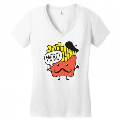 french fries funny Women's V-Neck T-Shirt | Artistshot