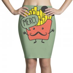 french fries funny Pencil Skirts | Artistshot