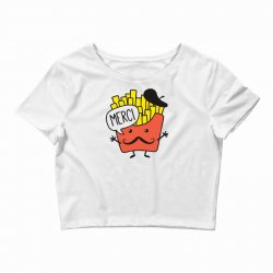 french fries funny Crop Top | Artistshot