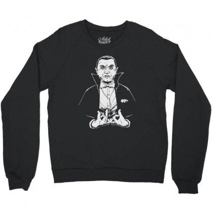 Dracula Bw Crewneck Sweatshirt Designed By Meganphoebe