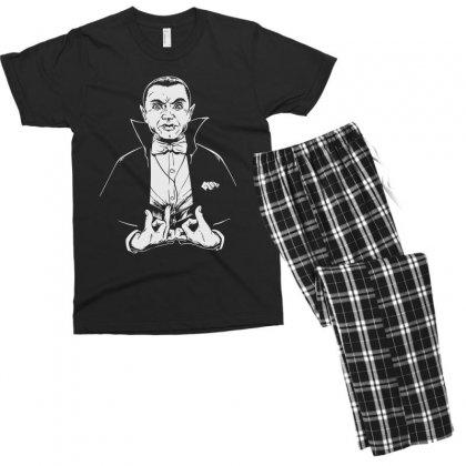 Dracula Bw Men's T-shirt Pajama Set Designed By Meganphoebe