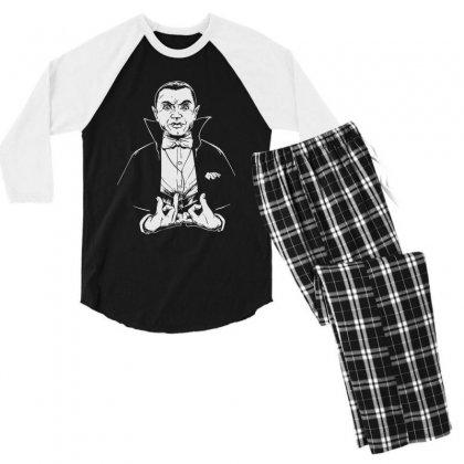 Dracula Bw Men's 3/4 Sleeve Pajama Set Designed By Meganphoebe