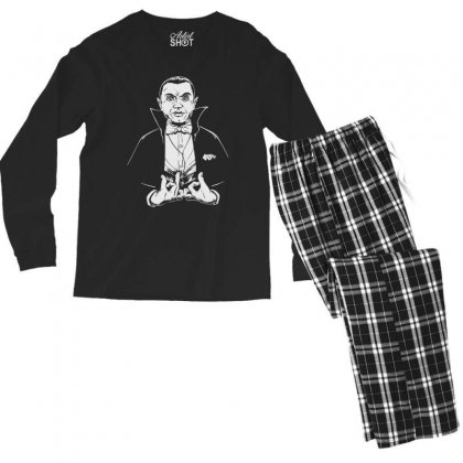 Dracula Bw Men's Long Sleeve Pajama Set Designed By Meganphoebe