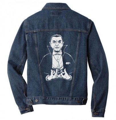 Dracula Bw Men Denim Jacket Designed By Meganphoebe