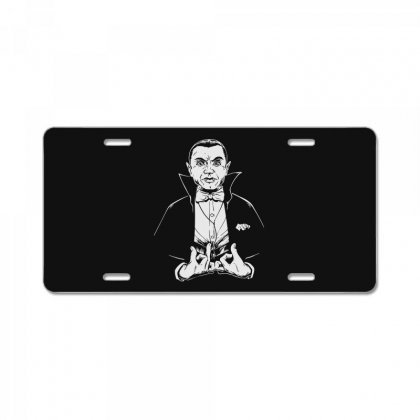 Dracula Bw License Plate Designed By Meganphoebe