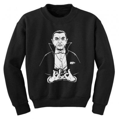 Dracula Bw Youth Sweatshirt Designed By Meganphoebe