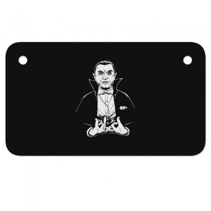 Dracula Bw Motorcycle License Plate Designed By Meganphoebe