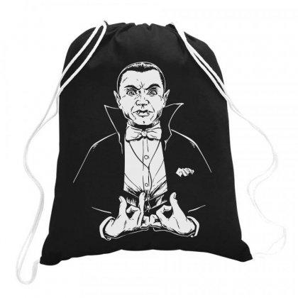 Dracula Bw Drawstring Bags Designed By Meganphoebe
