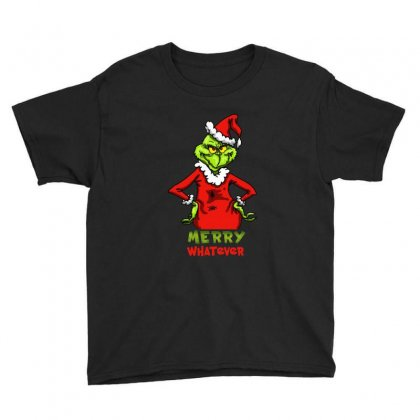 Christmas Grinchy Youth Tee Designed By Meganphoebe
