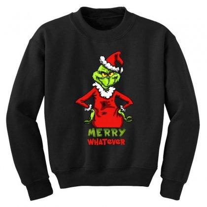 Christmas Grinchy Youth Sweatshirt Designed By Meganphoebe