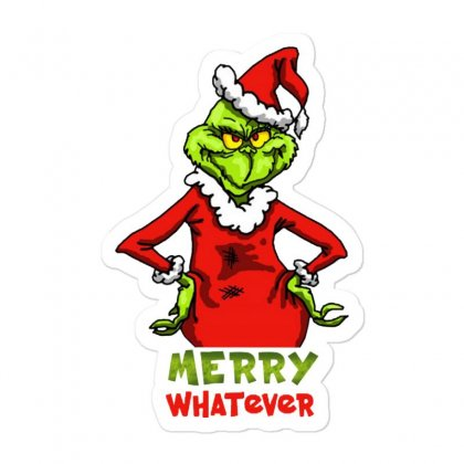 Christmas Grinchy Sticker Designed By Meganphoebe