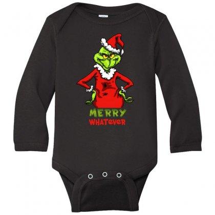 Christmas Grinchy Long Sleeve Baby Bodysuit Designed By Meganphoebe