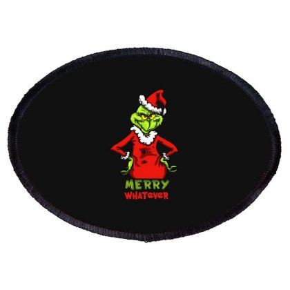 Christmas Grinchy Oval Patch Designed By Meganphoebe