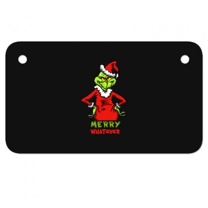 Christmas Grinchy Motorcycle License Plate Designed By Meganphoebe