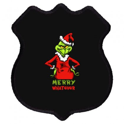 Christmas Grinchy Shield Patch Designed By Meganphoebe