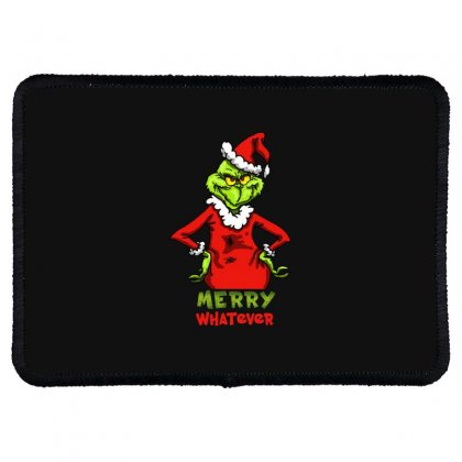 Christmas Grinchy Rectangle Patch Designed By Meganphoebe