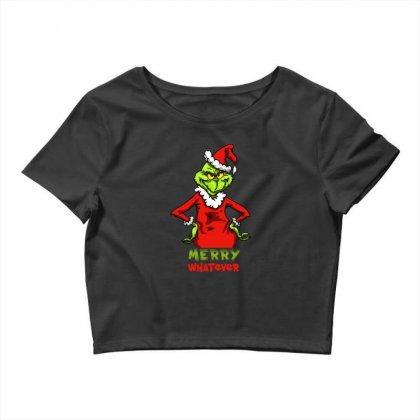 Christmas Grinchy Crop Top Designed By Meganphoebe