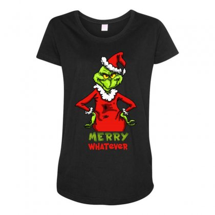 Christmas Grinchy Maternity Scoop Neck T-shirt Designed By Meganphoebe