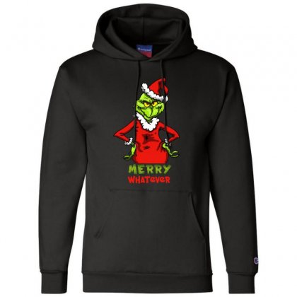 Christmas Grinchy Champion Hoodie Designed By Meganphoebe