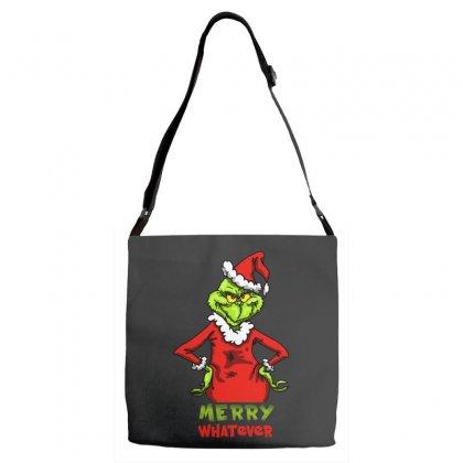 Christmas Grinchy Adjustable Strap Totes Designed By Meganphoebe