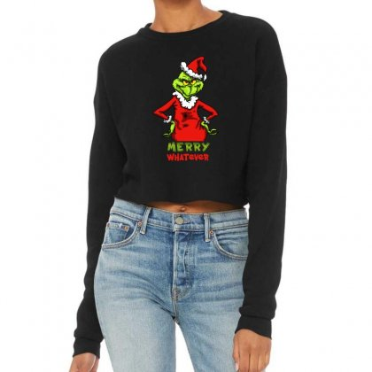 Christmas Grinchy Cropped Sweater Designed By Meganphoebe