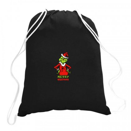 Christmas Grinchy Drawstring Bags Designed By Meganphoebe