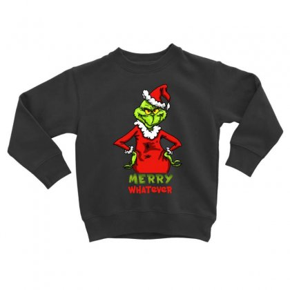 Christmas Grinchy Toddler Sweatshirt Designed By Meganphoebe