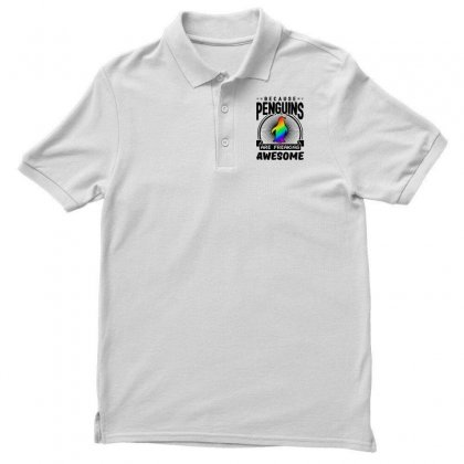 Because Penguins Are Freaking Awesome Men's Polo Shirt Designed By Meganphoebe