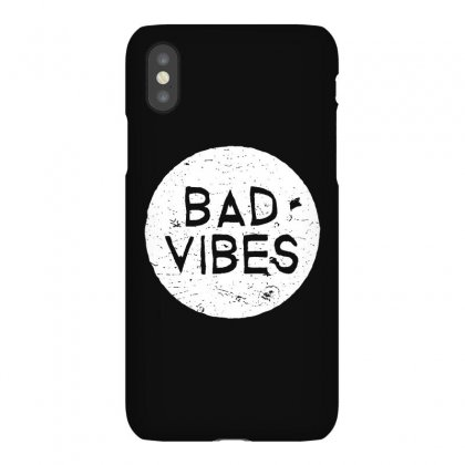Bad Vibes White Style Iphonex Case Designed By Meganphoebe
