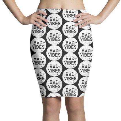 Bad Vibes White Style Pencil Skirts Designed By Meganphoebe
