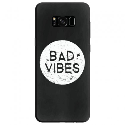 Bad Vibes White Style Samsung Galaxy S8 Case Designed By Meganphoebe