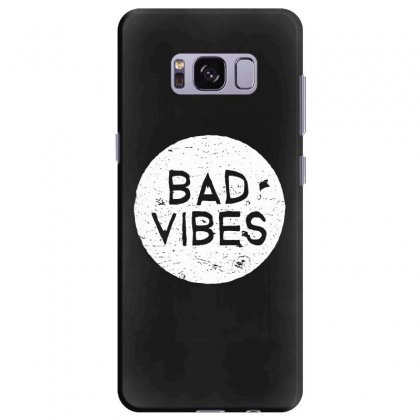 Bad Vibes White Style Samsung Galaxy S8 Plus Case Designed By Meganphoebe