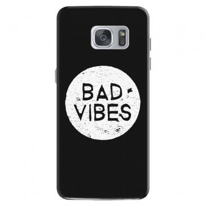 Bad Vibes White Style Samsung Galaxy S7 Case Designed By Meganphoebe