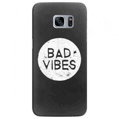 Bad Vibes White Style Samsung Galaxy S7 Edge Case Designed By Meganphoebe