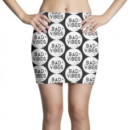 Bad Vibes White Style Mini Skirts Designed By Meganphoebe