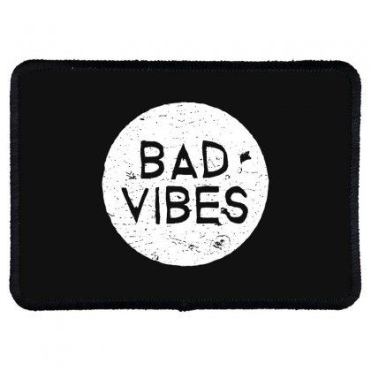 Bad Vibes White Style Rectangle Patch Designed By Meganphoebe