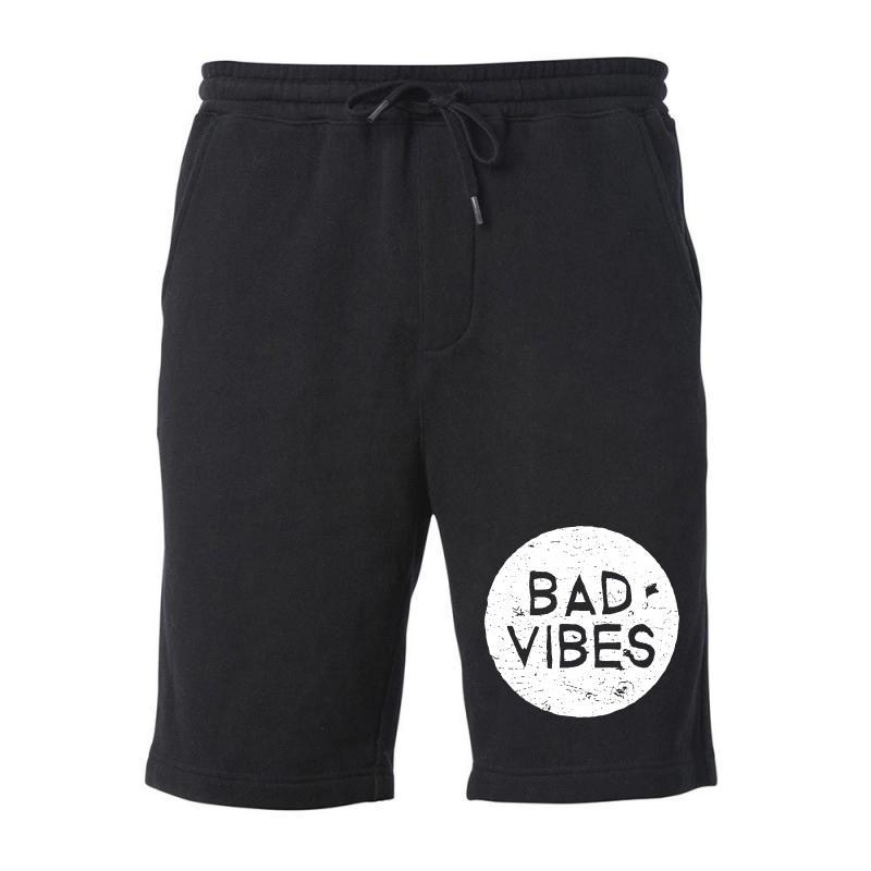 Bad Vibes White Style Fleece Short | Artistshot