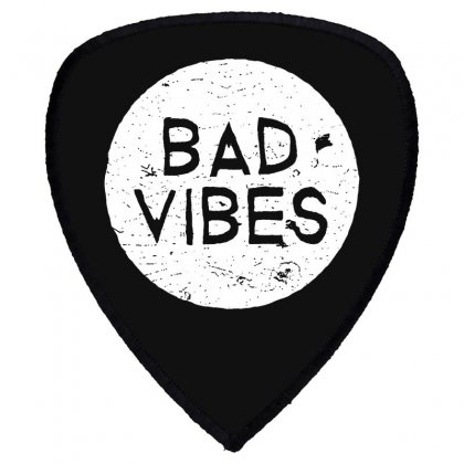 Bad Vibes White Style Shield S Patch Designed By Meganphoebe