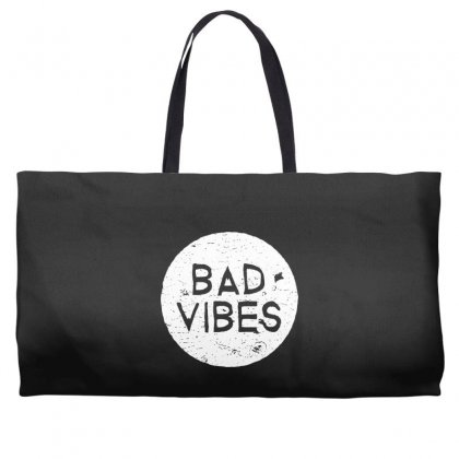 Bad Vibes White Style Weekender Totes Designed By Meganphoebe