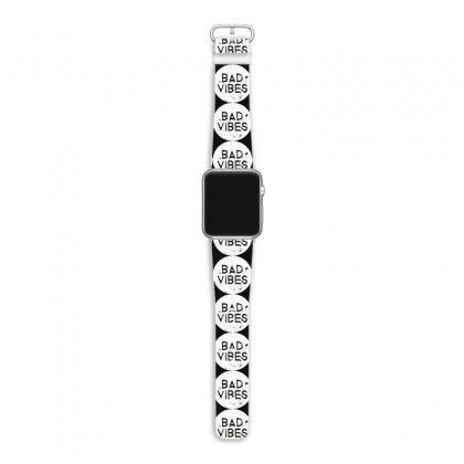 Bad Vibes White Style Apple Watch Band Designed By Meganphoebe