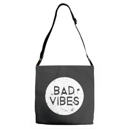 Bad Vibes White Style Adjustable Strap Totes Designed By Meganphoebe