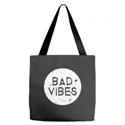 Bad Vibes White Style Tote Bags Designed By Meganphoebe